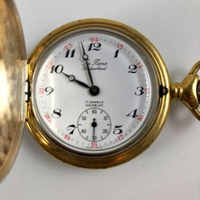 GOUSSET IN TIME : Montre de poche à double clapet moderne, réalisée pour le moulin...