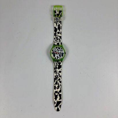 """SWATCH  Vers 1991.  Réf: GZ117.  Montre bracelet modèle """"Flack - 700 ans Confédération..."""