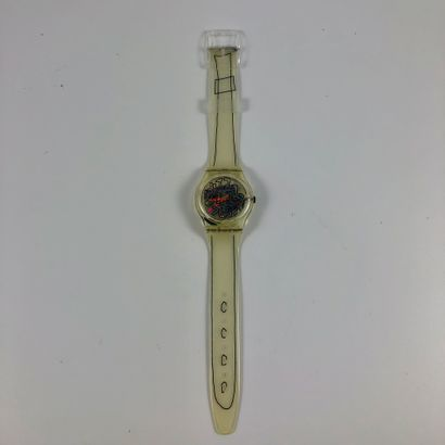 SWATCH  Vers 1993.  Réf: GZ124.  Montre bracelet...
