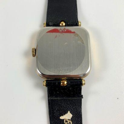 ESKA St. Moritz Réf 10-141. Montre bracelet Eska en plaqué or jaune. Boitier carré,...