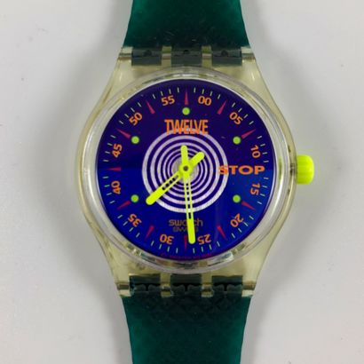 "SWATCH  Vers 1993.  Réf: SSK101.  Montre bracelet type stop watch modèle ""Orologio""...."