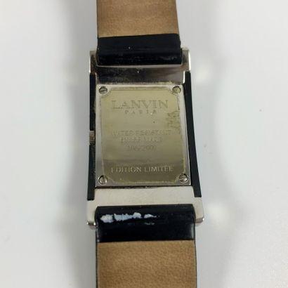 LANVIN PARIS QUARTZ. Montre bracelet en acier, édition limitée numéro 106 sur 2000....