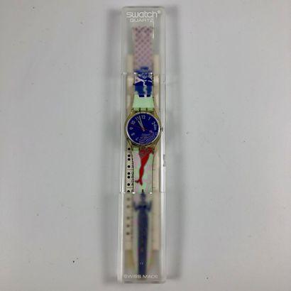 SWATCH Vers 1990. Réf: GK147. Montre bracelet...
