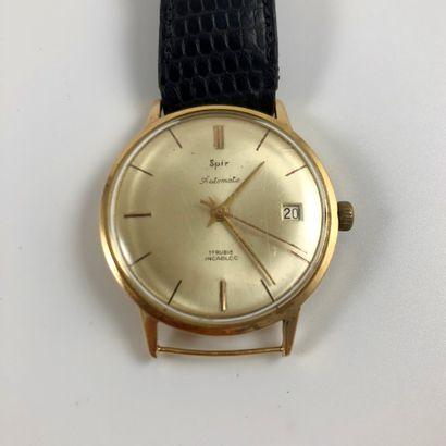 SPIR Automatic Vers 1950. Réf: 1404 / 200XXX. Montre bracelet en or jaune 18K, boitier...