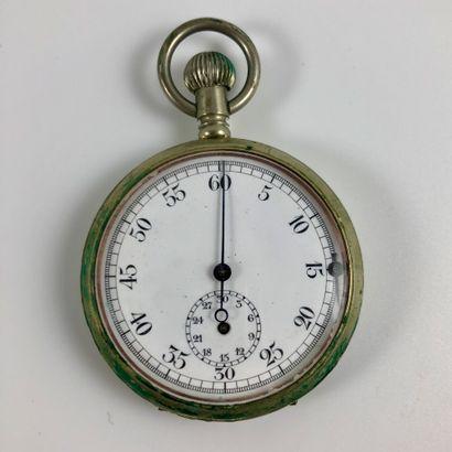 Chronographe de gousset  Vers 1950.  Boite...