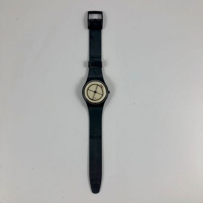 """SWATCH  Vers 1991.  Réf: GZ119.  Montre bracelet modèle """"Rosso - 700 ans Confédération..."""