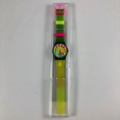 SWATCH Vers 1992. Réf: GB721. Montre bracelet...