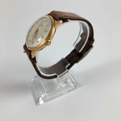 LIP R23 Vers 1960. Réf: 3040XX. Montre bracelet en plauqé or rose et acier, boitier...