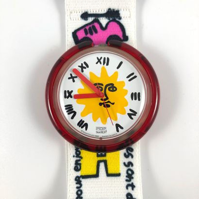 "SWATCH  Vers 1993.  Réf: PWK190.  Montre bracelet en mini-coffret modèle ""Enjoy..."