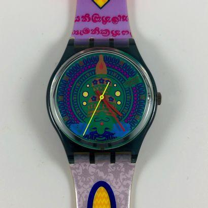 """SWATCH Vers 1993. Réf: GM111. Montre bracelet modèle """"Sari"""". Mouvement quartz. Etat..."""