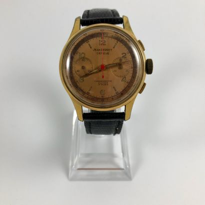 JEAN PERRET. Chronographe Suisse. Vers 1960....