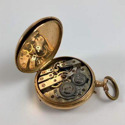 Gousset Anonyme Vers 1860. Montre de gousset en or jaune 585/1000, boitier rond,...
