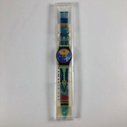 SWATCH Vers 1991. Réf: GN114. Montre bracelet...