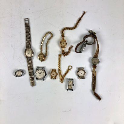 Lot de montres pour dame, ne fonctionnent pas, à réviser. (9)