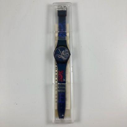 SWATCH Vers 1990. Réf: GB135. Montre bracelet...