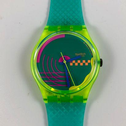 """SWATCH  Vers 1993.  Réf: GK169.  Montre bracelet modèle """"Perspective"""".  Mouvement..."""
