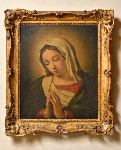 Dans le goût de SASSOFERRATO La Vierge en...
