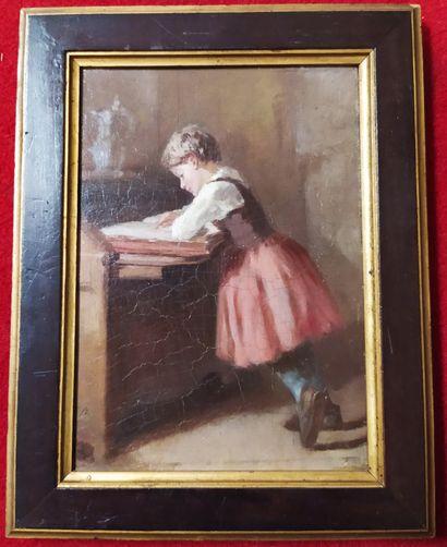 ECOLE FRANCAISE du XIXème siècle La petite...