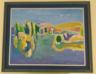 RENE GOUAST (1897-1980) Paysage Huile sur...