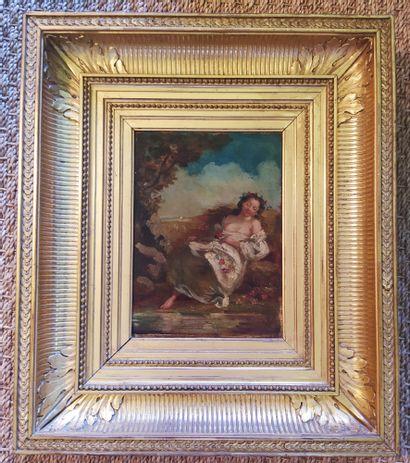 Ecole française du XIXème siècle Jeune femme...