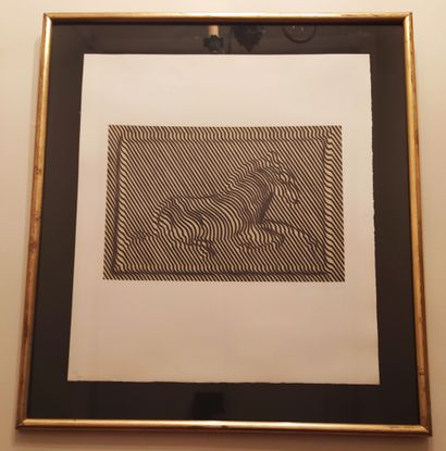 VICTOR VASARELY (1906-1997) The Zebra Signed lower right and numbered 104/138 Plate...