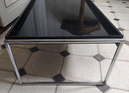 PIERO LISSONI KARTELL Editeur « Trays » Table basse à plateau rectangulaire en méthacrylate...