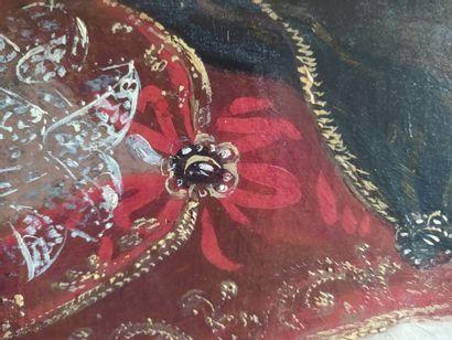Ecole FRANCAISE vers 1680, entourage de Pierre MIGNARD Portrait de femme portant...