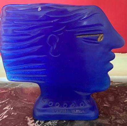 ALEXANDRE FASSIANOS (Né en 1935) DAUM Editeur Homme de profil sculpture en pâte...