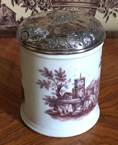 SAMSON Pot couvert en porcelaine à décor...