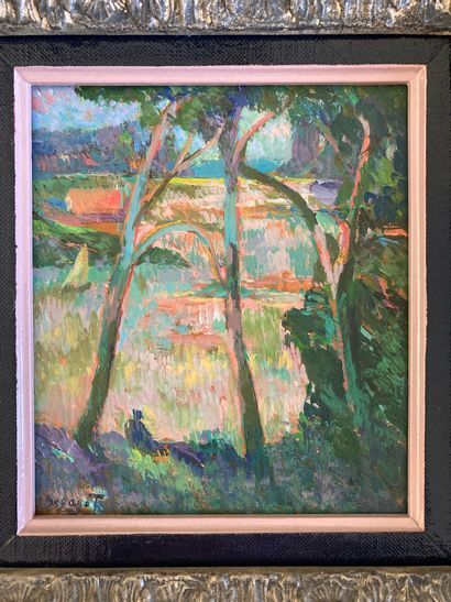 Eugène BEGARAT (1943) Seaside Oil on panel signed lower left 20 x 17.5 cm