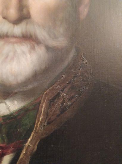 Alphonse DARGENT (Actif à Verdun et Paris au XIXème siècle) Portrait d'homme, officier...