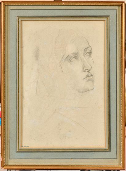 Théodore CHASSERIAU (1819-1856) Tête de femme...