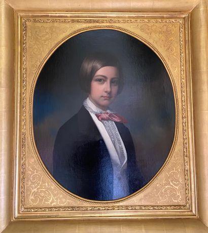 O. GUÏET (actif au XIXème siècle) Portrait...