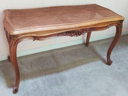 BANQUETTE de forme rectangulaire, en bois...