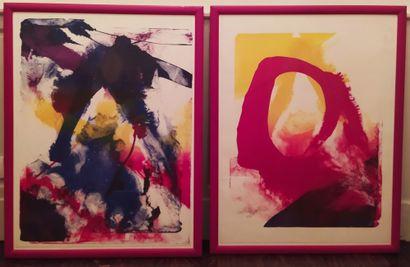 PAUL JENKINS (1923-2012) Deux lithographies...