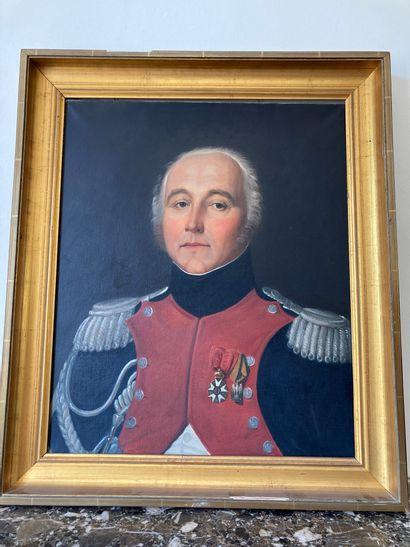 ECOLE FRANCAISE Fin du XIXe siècle Portrait...