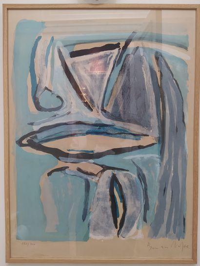 BRAM VELDE VAN (1895-1981) Sans titre Lithographie...