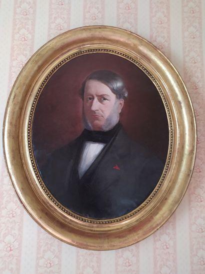 E. GIRVOIS *** Portrait d'homme portant la...