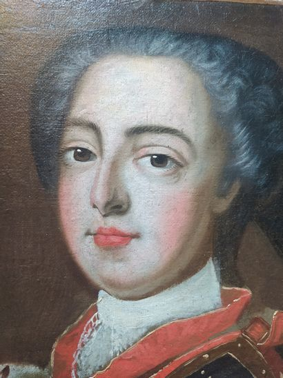 In the 18th century style Portrait of Louis XV as a child Oil on canvas 41 x 33...