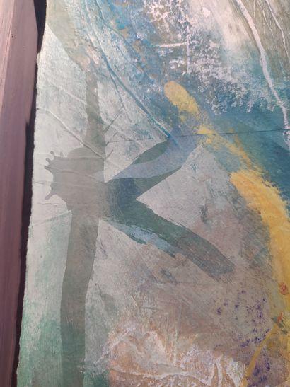 PIERRE DUCLOU (Né en 1957) Sans titre Papier marouflé sur toile Signé et daté 06...