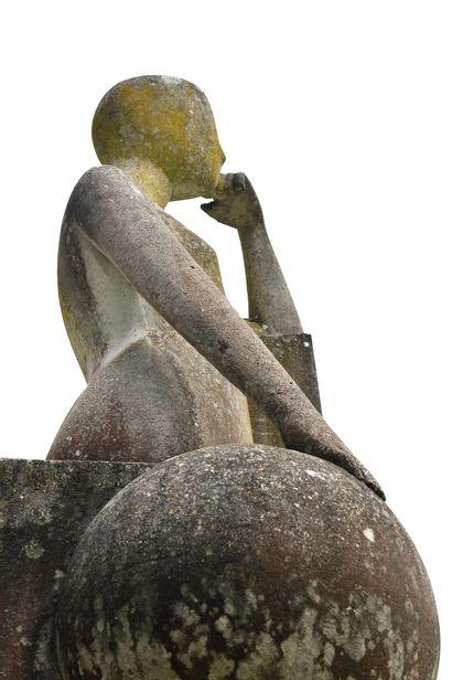 FRANÇOIS-XAVIER LALANNE (FRA/1927-2008) La Science (Tête reposant sur la main gauche)...