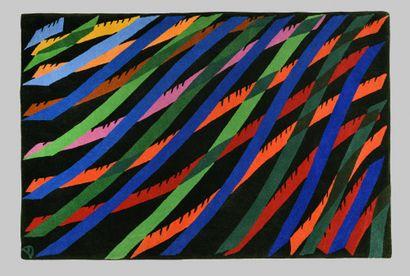 PIERO DORAZIO (ITA/ 1928-2005) Umbrae tapis en laine signé des initiales 'PD' (en...