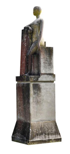FRANÇOIS-XAVIER LALANNE (FRA/1927-2008) La Loi (bras droit posé sur une colonne)...