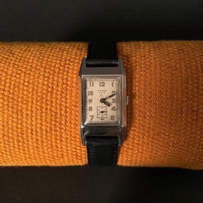 CYMA 334. Vers 1930. Montre bracelet en acier,...