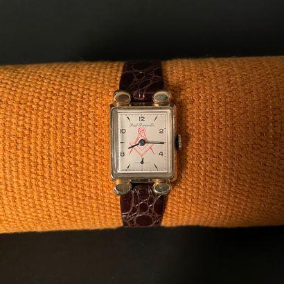PAUL BREGUETTE Vers 1960. Montre bracelet...