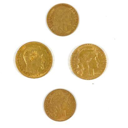 ENSEMBLE DE 4 PIÈCES composé de : - 2 pièces...