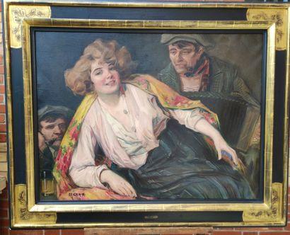 Richard GEIGER (1870-1945) Dame au châle...