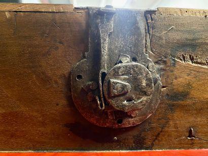 CABINET dit BARGUENO en bois peint et doré, marqueté de plaques d'os peintes de...