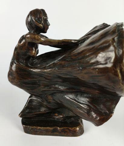 Rupert CARABIN (1862 -1932) Loïe Fuller Etude pour les phases de la danse serpentine...