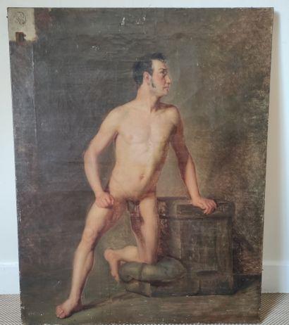ECOLE FRANCAISE DU XIXème siècle Nu académique...